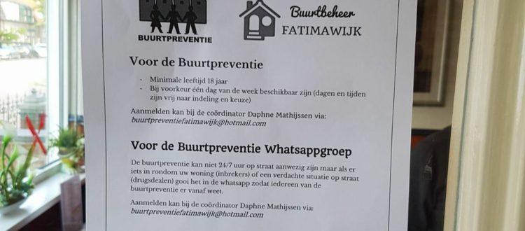 Buurtpreventie Fatimawijk zoekt nieuwe buurtpreventisten